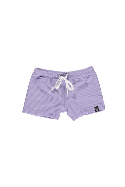 LAVENDER RIBBED SWIMSHORT