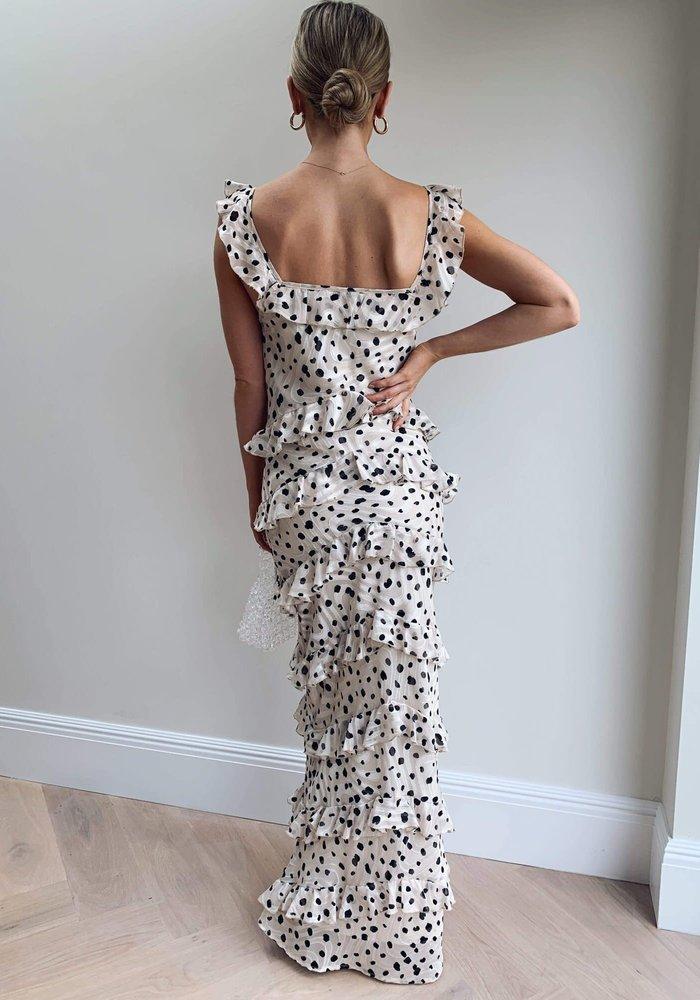Pretty Lavish Cecile Ruffle Maxi Dress