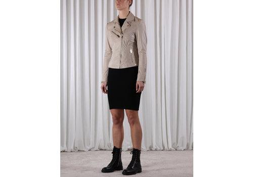 RINO & PELLE Rino & Pelle Ghost Short Leather Jacket Sand