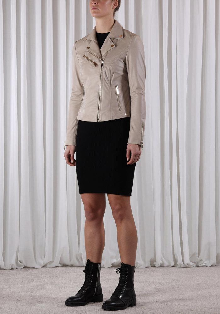 Rino & Pelle Ghost Short Leather Jacket Sand