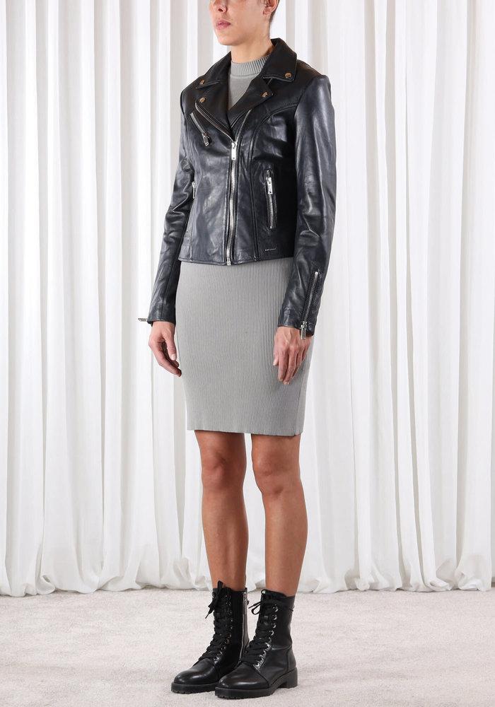 Rino & Pelle Ghost Short Leather Jacket Black