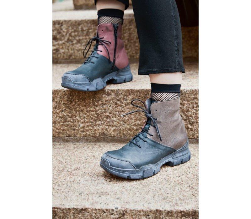 Lofina Tri Colour Leather Boots