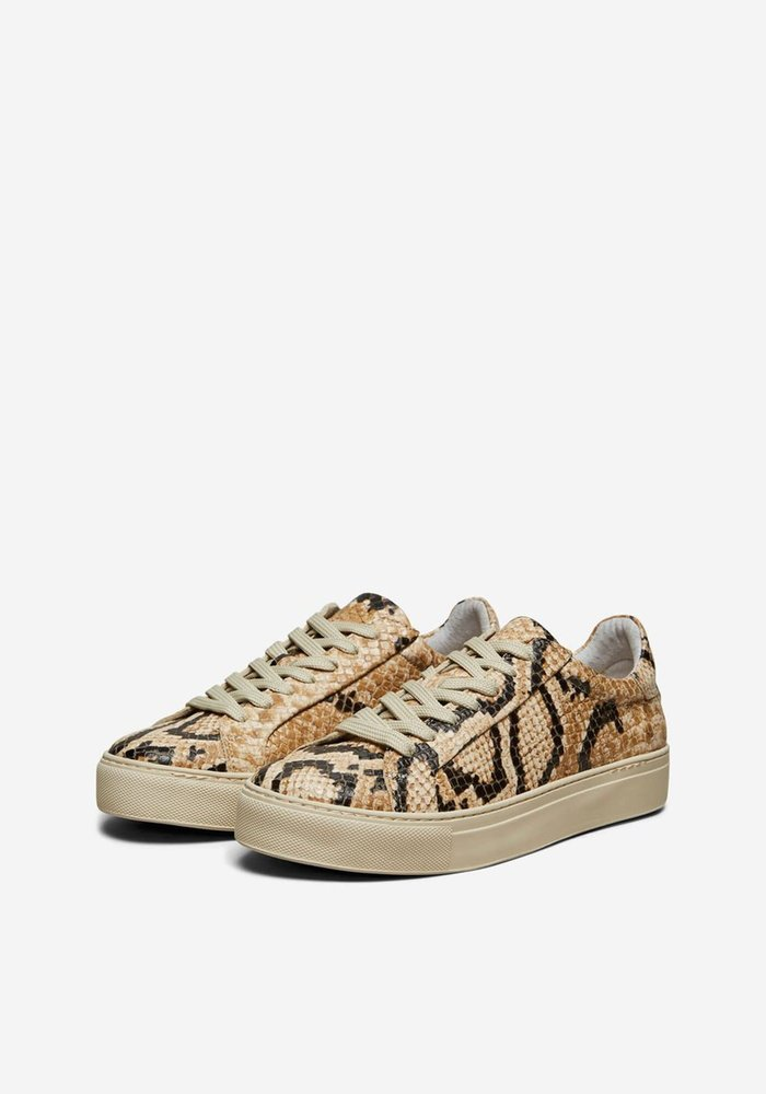 Selected Femme Faux Snake Trainers