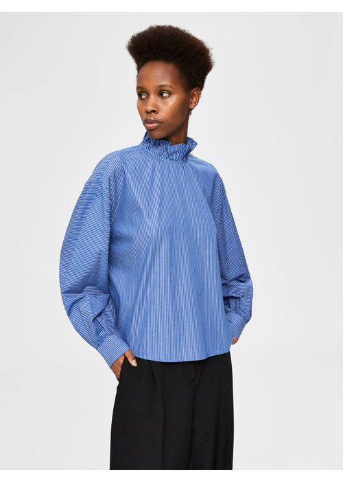 SELECTED FEMME Selected Femme Ruffle Neck Blouse