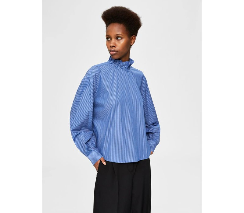 Selected Femme Ruffle Neck Blouse
