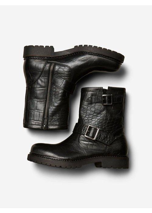 SELECTED FEMME Selected Femme Croc Biker Boots
