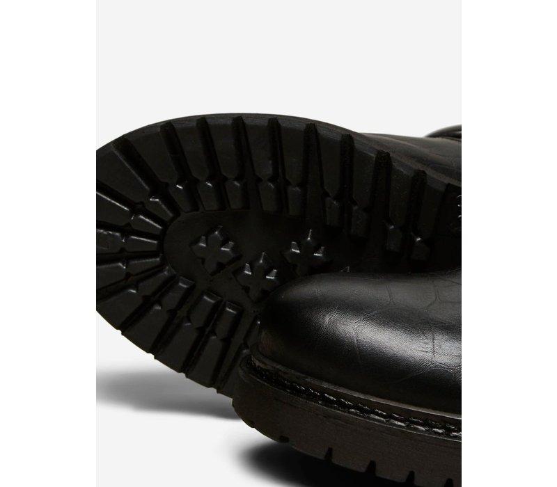 Selected Femme Croc Biker Boots