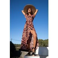 Dancing Leopard Cayenne Wrap Dress