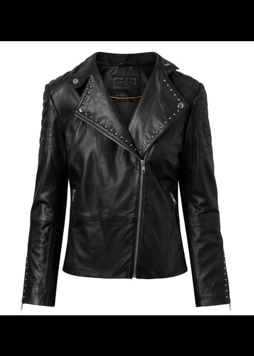 DEPECHE Depeche Studded Leather Jacket
