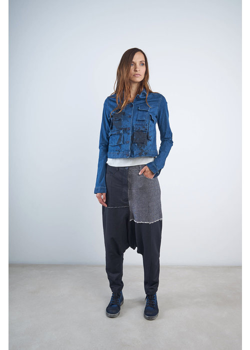 RUNDHOLZ BLACK LABEL Rundholz Black Label Short Paint Splash Denim Jacket