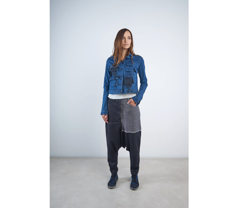 Rundholz Black Label Short Paint Splash Denim Jacket
