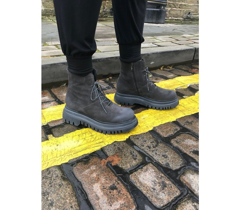 Lofina Lace Up Chunky Sole Boots