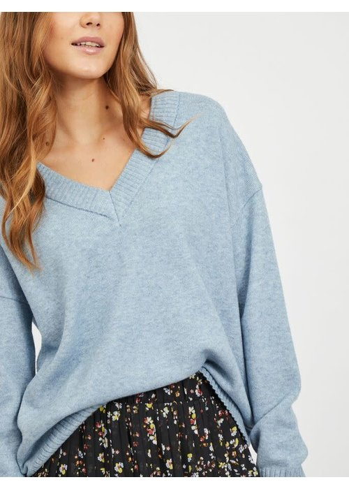VILA Vila Viril Oversized V Neck Knit Top