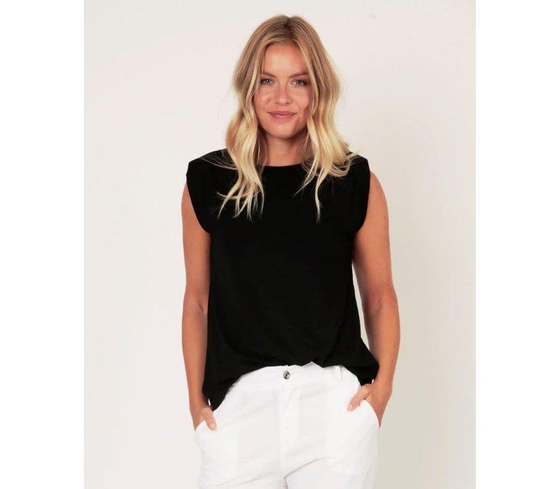 Suzy D Jersey Shoulder Pad T-shirt