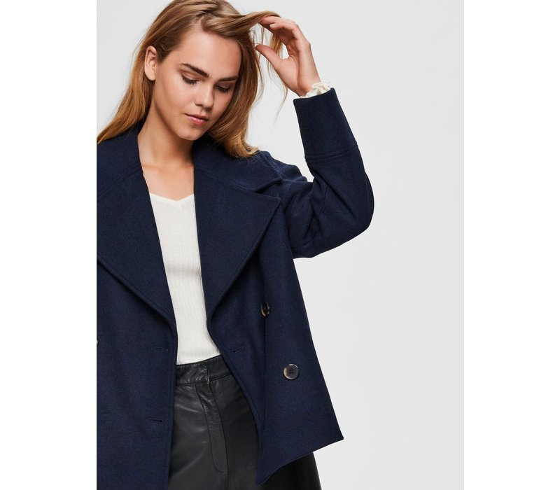 Selected Femme Cropped Wool Jacket