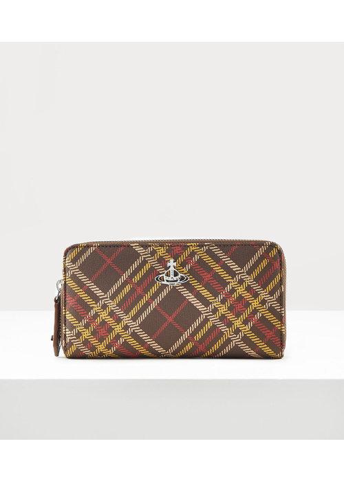 VIVIENNE WESTWOOD Vivienne Westwood Derby Tartan Zip Wallet