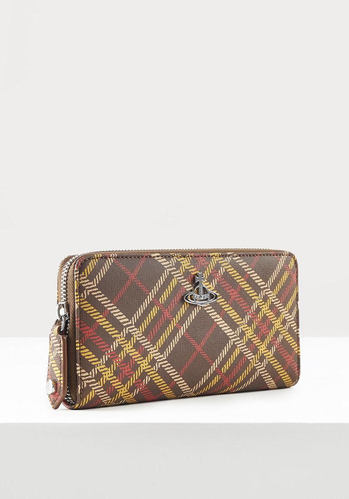 Vivienne Westwood Derby Tartan Zip Wallet