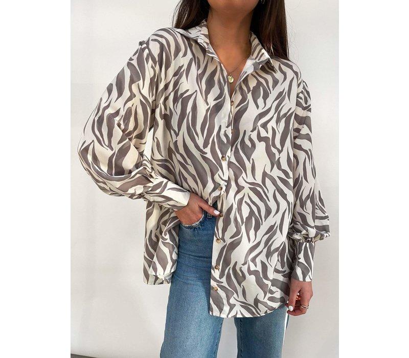 Pretty Lavish Otis Zebra Shirt