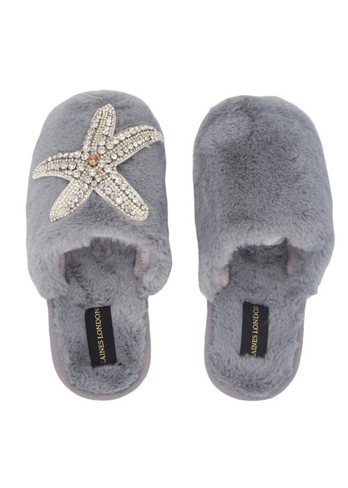 LAINES Laines London Closed Toe Starfish Slippers