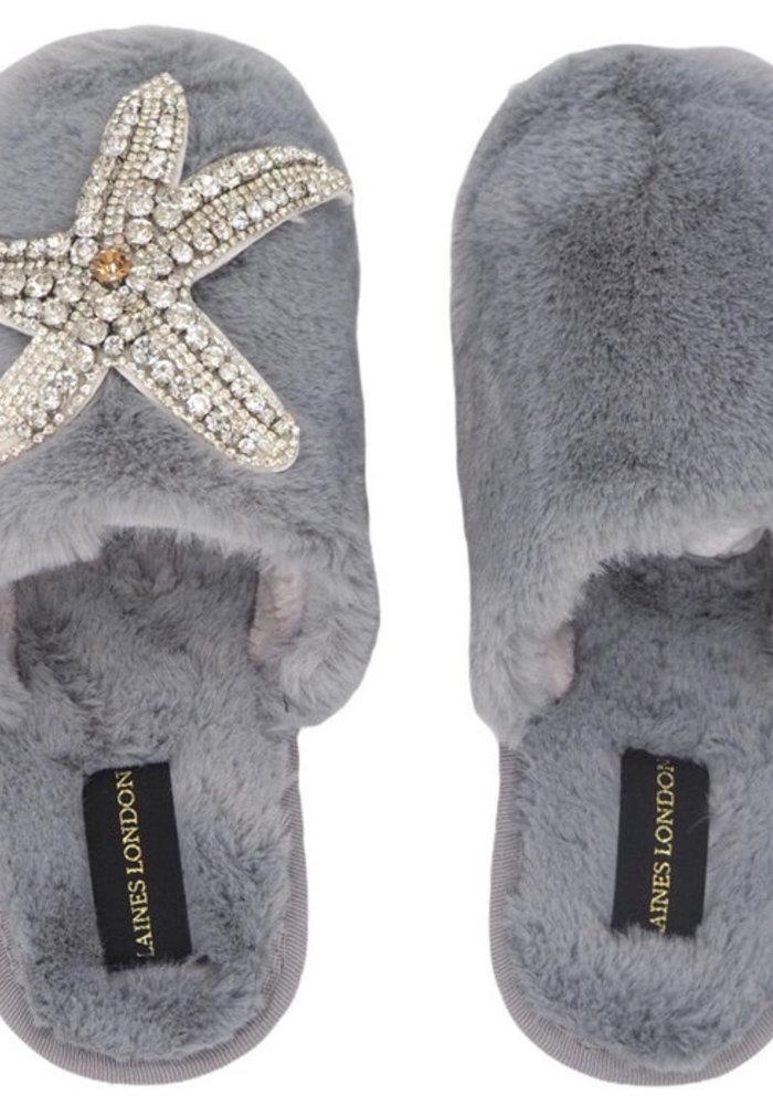 Laines London Closed Toe Starfish Slippers