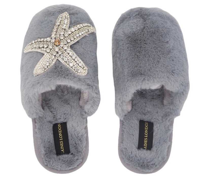 Laines London Closed Toe Starfish Slippers