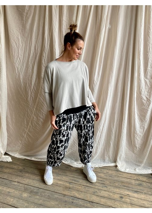 MAMA B Mama B Bianco Printed Trousers