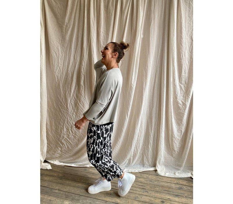 Mama B Bianco Printed Trousers