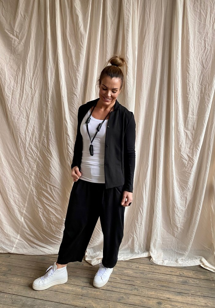 Mama B Bianco Pull On Trousers