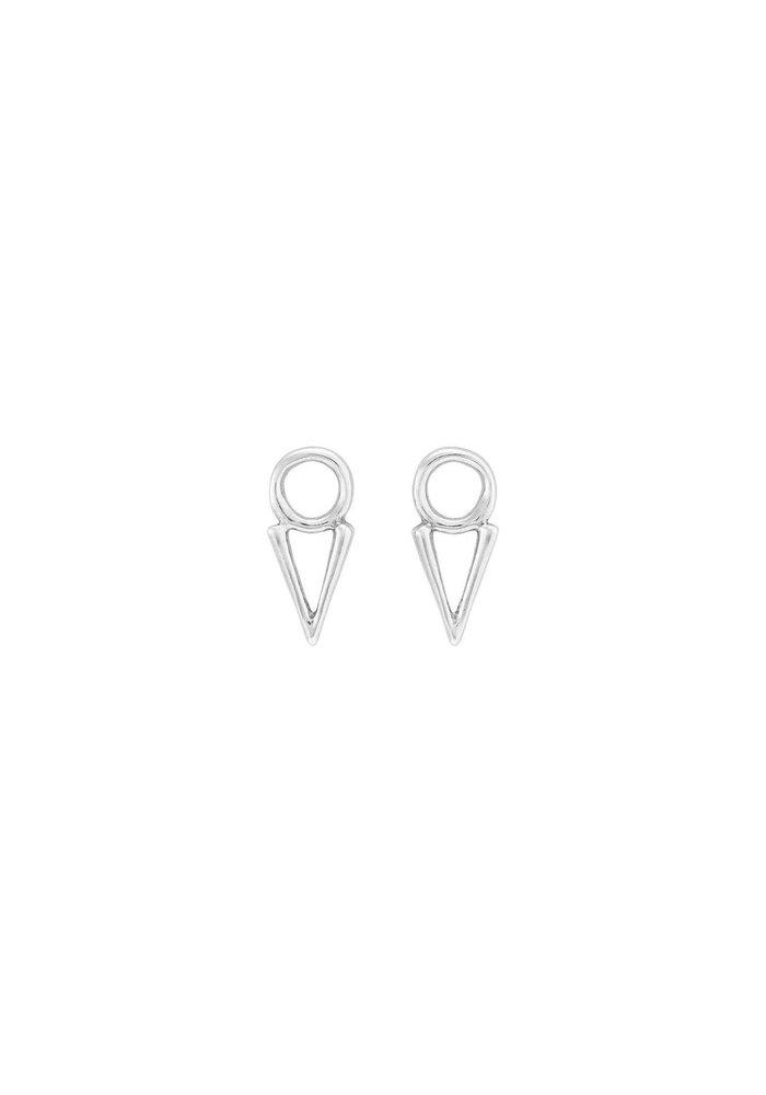 "Uno De 50 ""Equal"" Triangle Earrings"