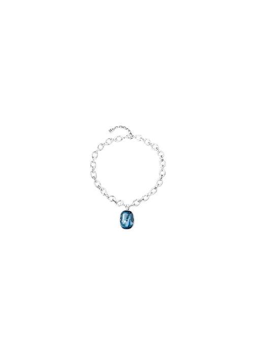 """UNO DE 50 Uno De 50 """"Light it Up"""" Blue Swarovski Necklace"""