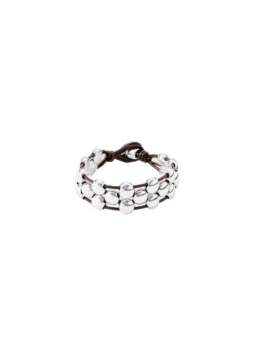 "UNO DE 50 Uno De 50 ""Friends"" Leather Bracelet"