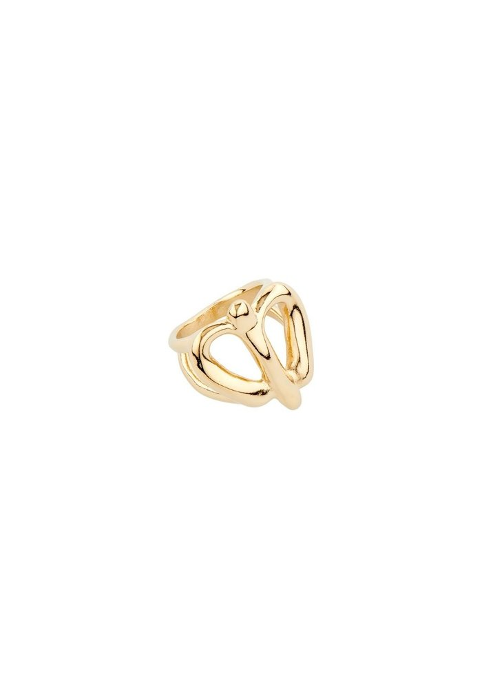 "Uno De 50 ""Fly Baby Fly"" Gold Ring"