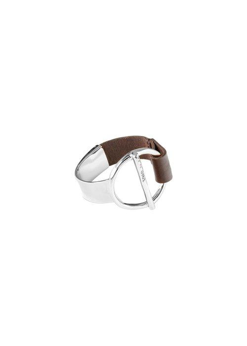 "UNO DE 50 Uno De 50 ""Switch On"" Leather and Silver Bracelet"