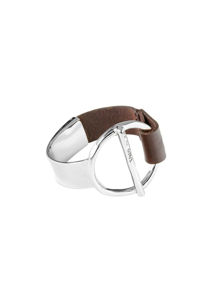 """Uno De 50 """"Switch On"""" Leather and Silver Bracelet"""