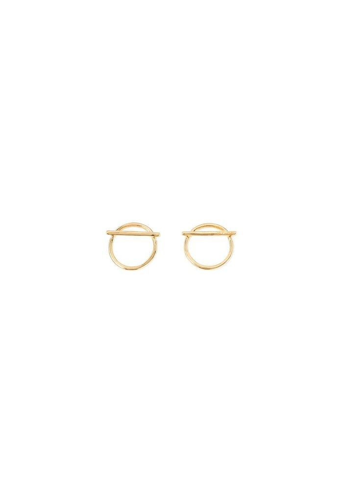 """Uno De 50 """"Switch On"""" Gold Earrings"""