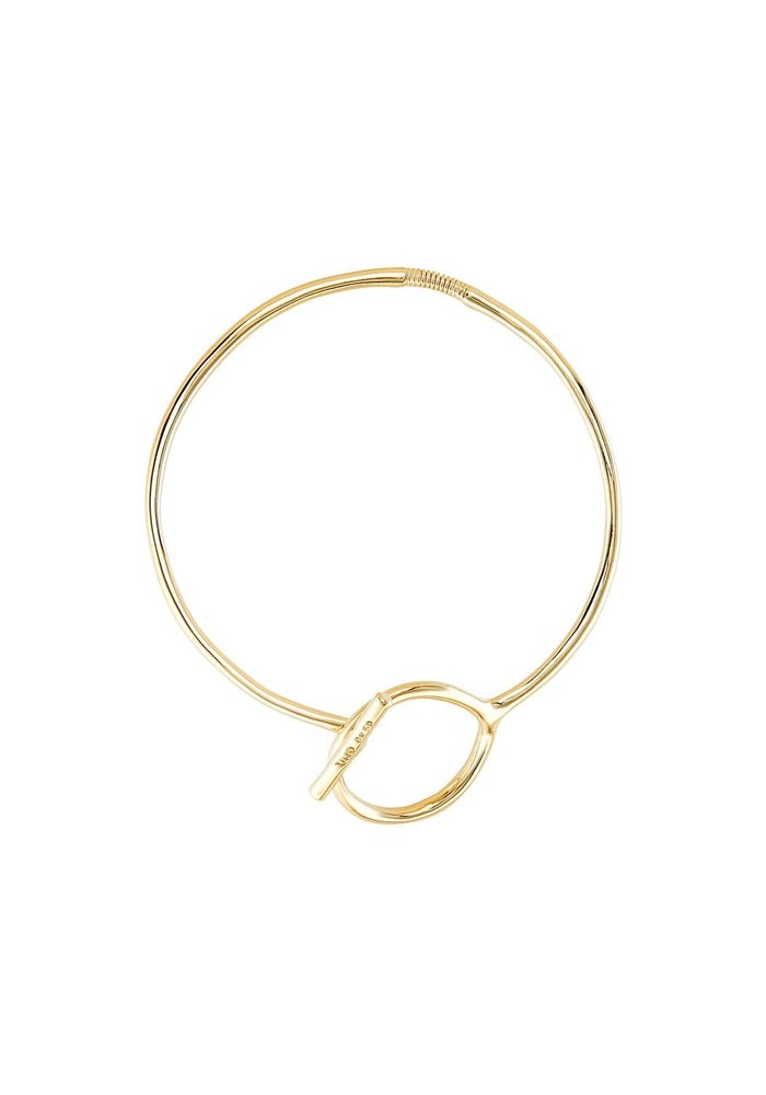 """Uno De 50 """"Switch On"""" Gold Collar Necklace"""