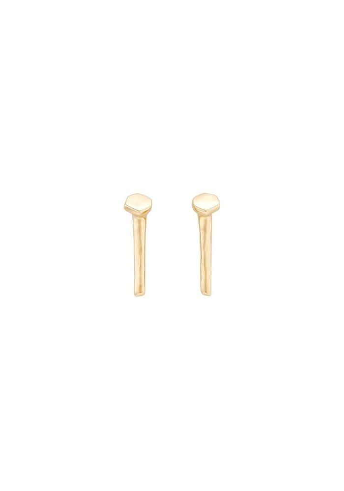 """Uno De 50 """"Determination"""" Gold Earrings"""