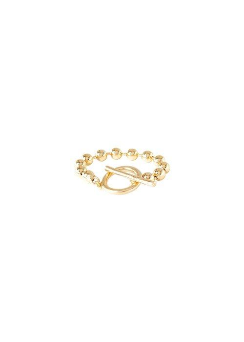 """UNO DE 50 Uno De 50 """"On/Off"""" Gold Bracelet"""