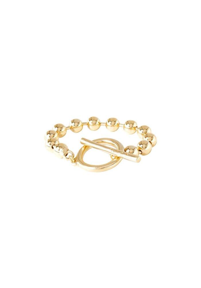 "Uno De 50 ""On/Off"" Gold Bracelet"
