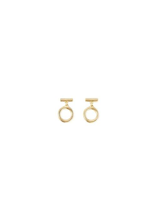 """UNO DE 50 Uno De 50 """"On/Off"""" Gold Earrings"""