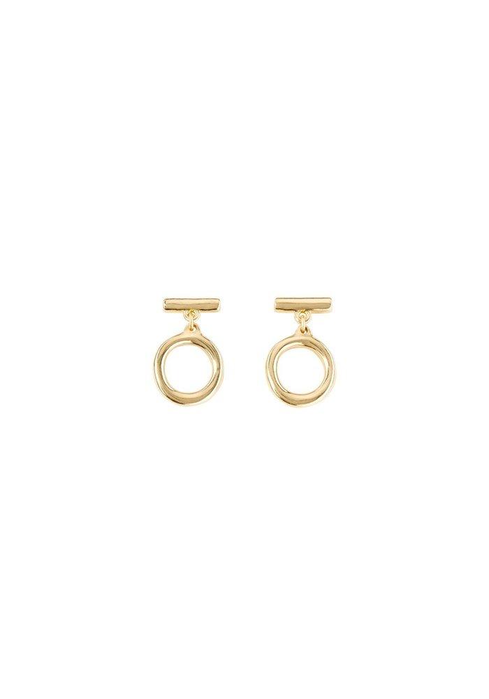 """Uno De 50 """"On/Off"""" Gold Earrings"""