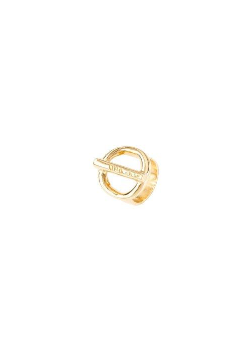 """UNO DE 50 Uno De 50 """"On/Off' Gold Ring"""