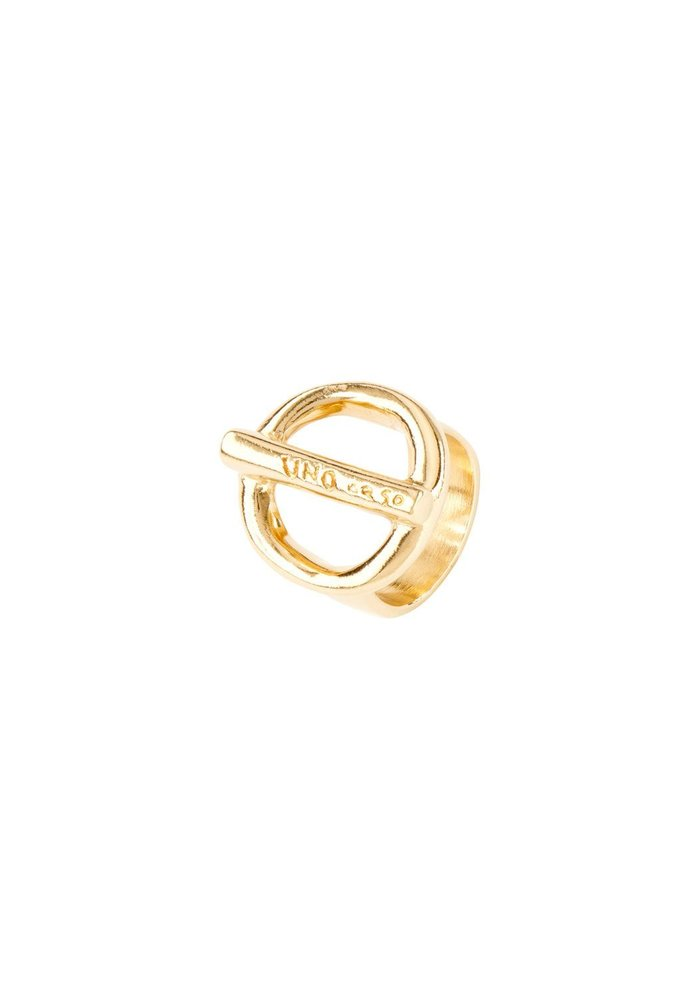 """Uno De 50 """"On/Off' Gold Ring"""