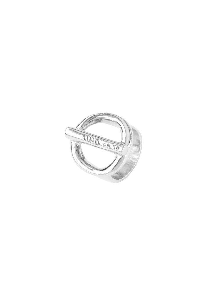 """Uno De 50 """"On/Off"""" Silver Ring"""