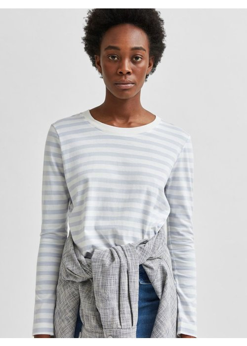 SELECTED FEMME Selected Femme Long Sleeved Striped T-Shirt
