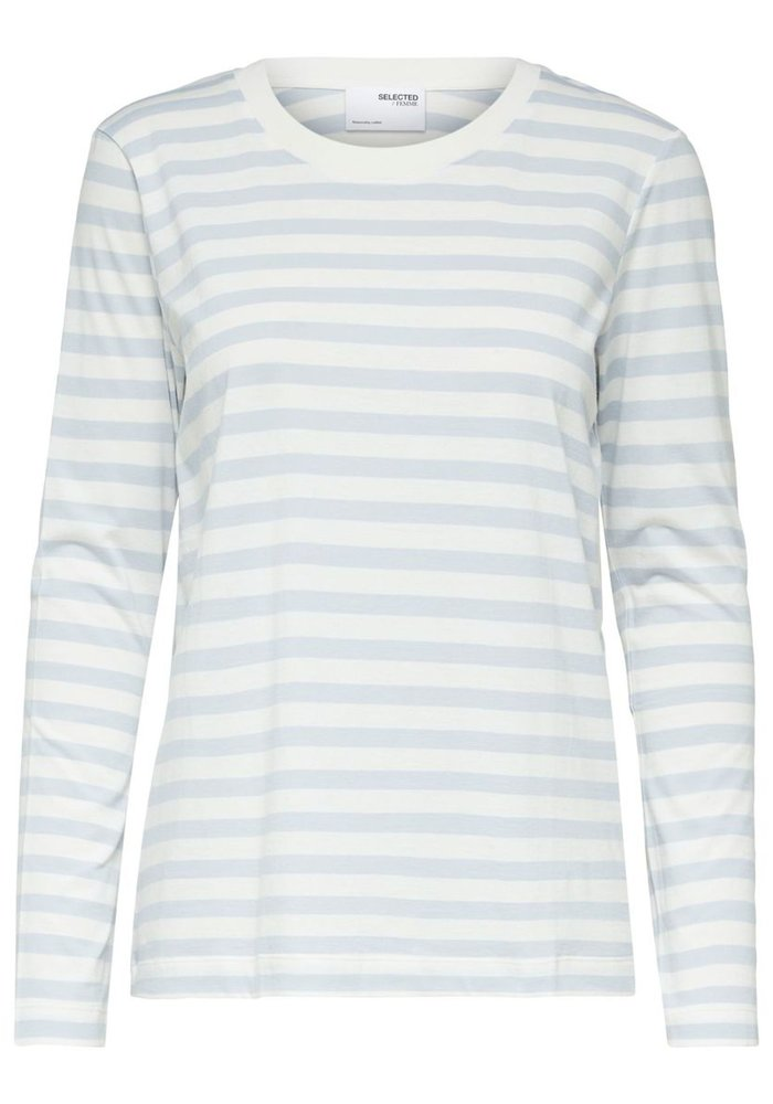 Selected Femme Long Sleeved Striped T-Shirt