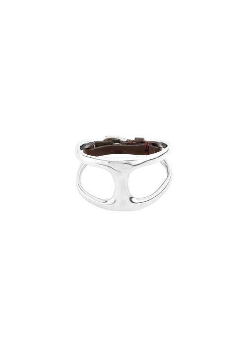 "UNO DE 50 Uno De 50 ""Two in One"" Silver & Leather Bracelet"
