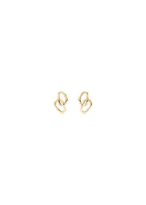 "UNO DE 50 Uno De 50 ""Inseparables"" Gold Earrings"