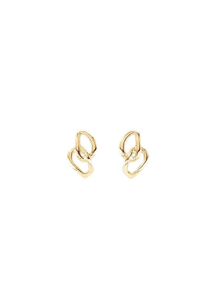 """Uno De 50 """"Inseparables"""" Gold Earrings"""