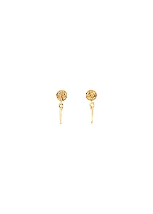 "UNO DE 50 Uno De 50 ""Sewn"" Gold Earrings"
